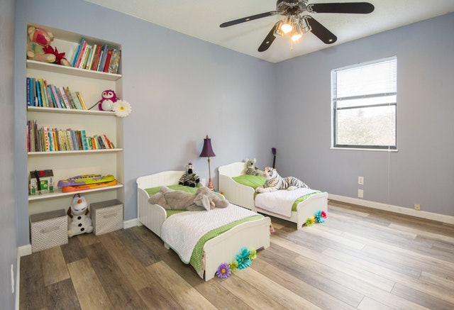 velký dětský pokoj pro dvě děti