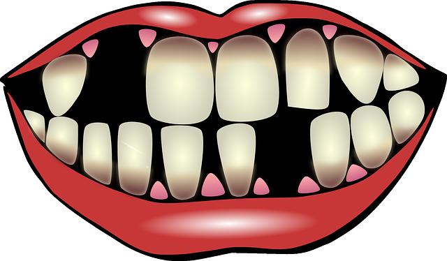 pusa s chybějícími zuby