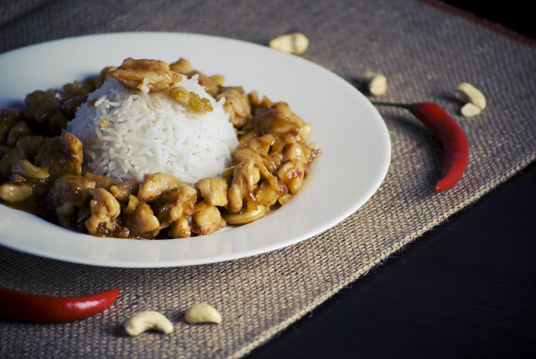 kešu s rýží
